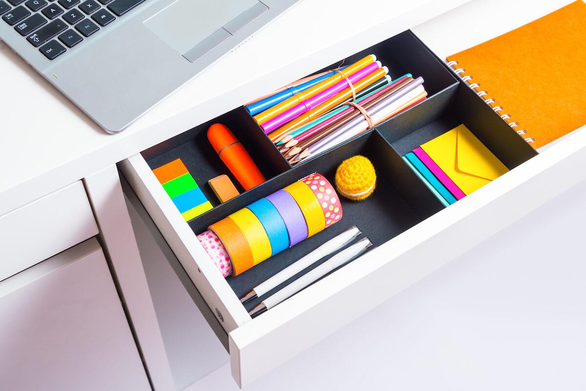 desk organization supplies